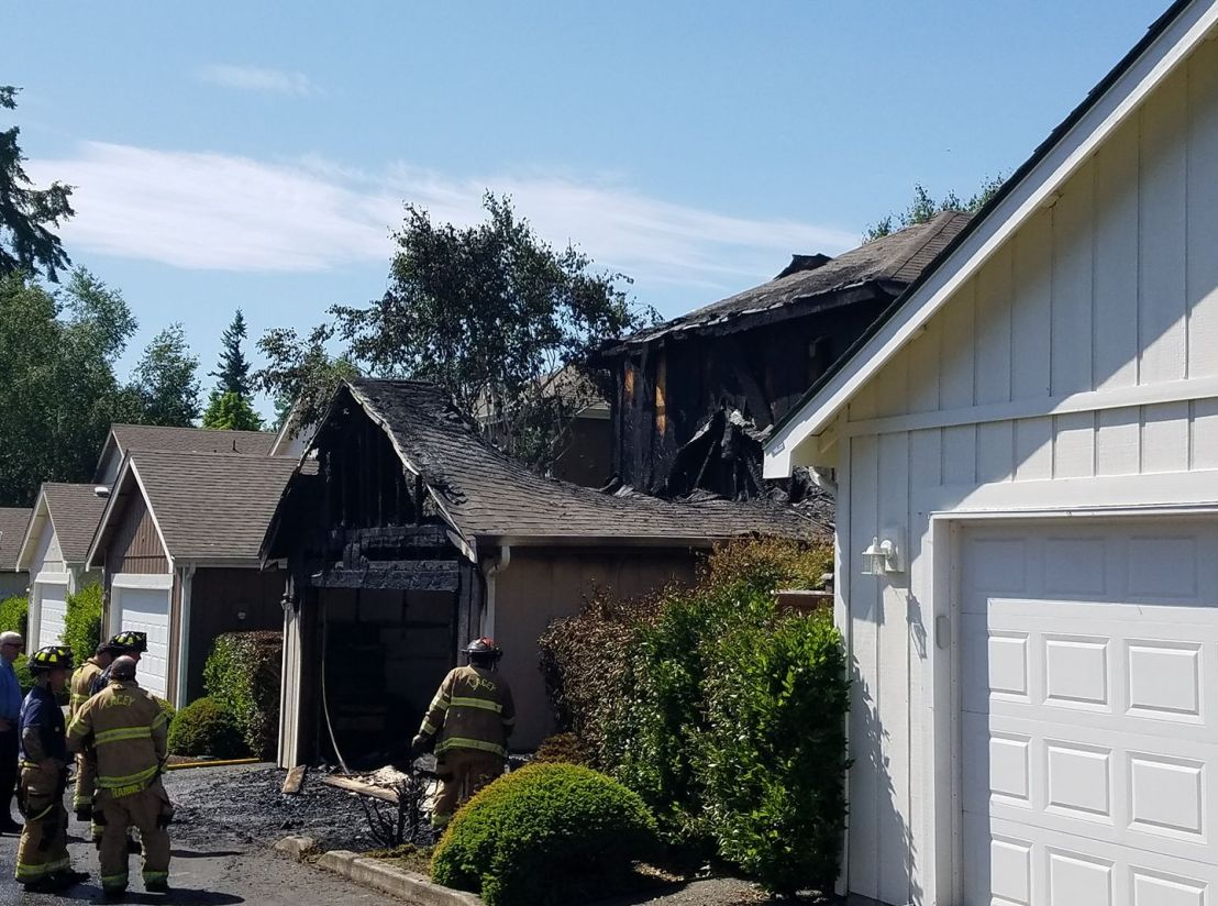 Home damaged by fire in Lacey