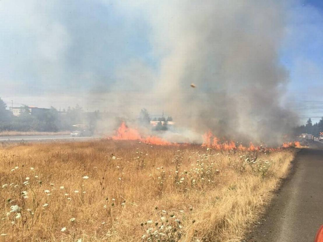 Three brush fires reported along I-5 on the sameday