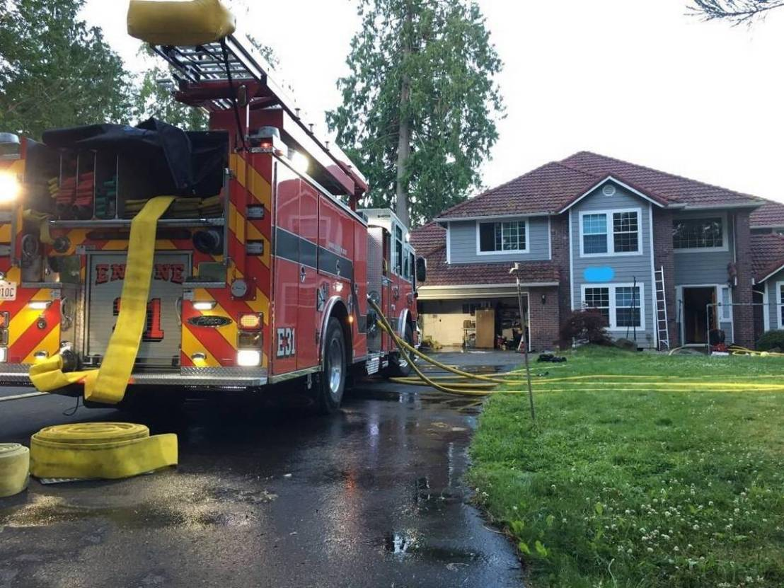 Lacey Fire responds to 'hidden' house fire Saturdaymorning