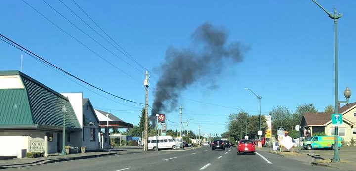 Large homeless camp catches on fire in NEOlympia