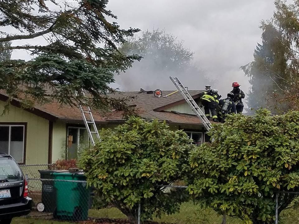 Attic damaged in Northeast Olympia neighborhood housefire