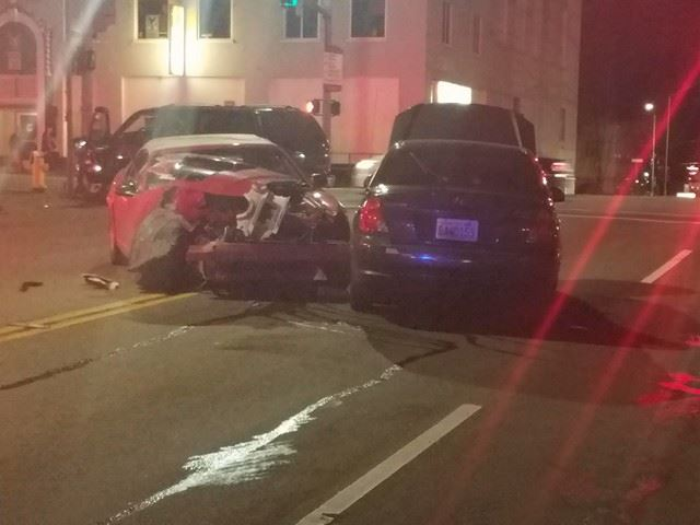 Plum Street closed after 3-car accident