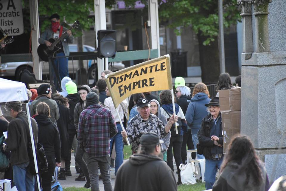 Olympia May Day 2018 unexpectedly uneventful