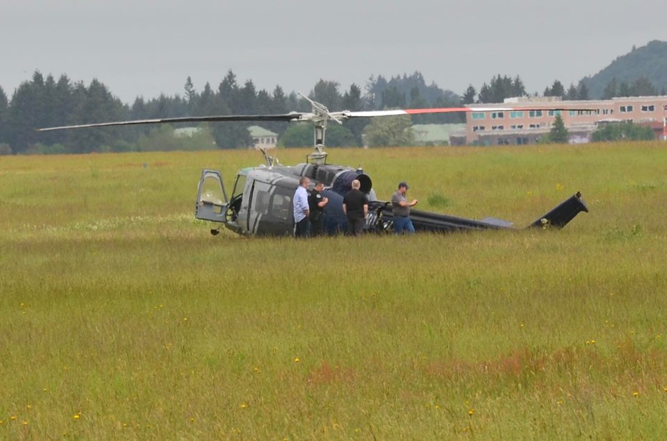 Helicopter crash near Olympia Airport sends two tohospital