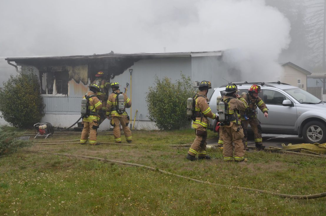One taken to hospital after mobile home fire outside of Tumwater